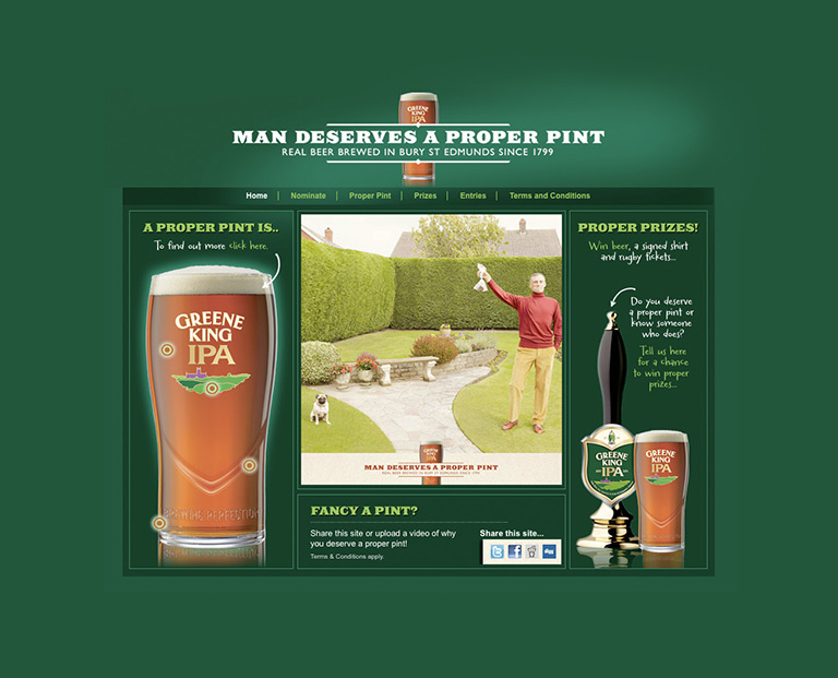Green King - Proper Pint - FMCG - STANDOUT
