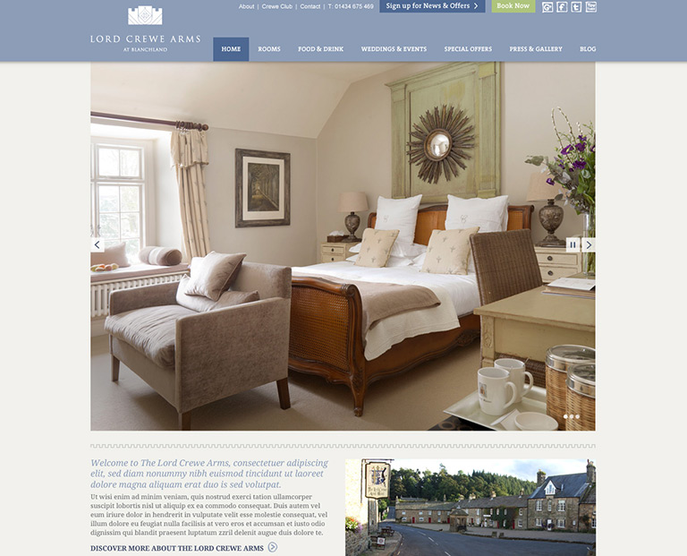 Lord Crewe Arms - Hotels & Hospitality - STANDOUT